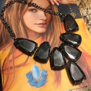 👀RARE Gunmetal Mirror Harlow Black Necklace